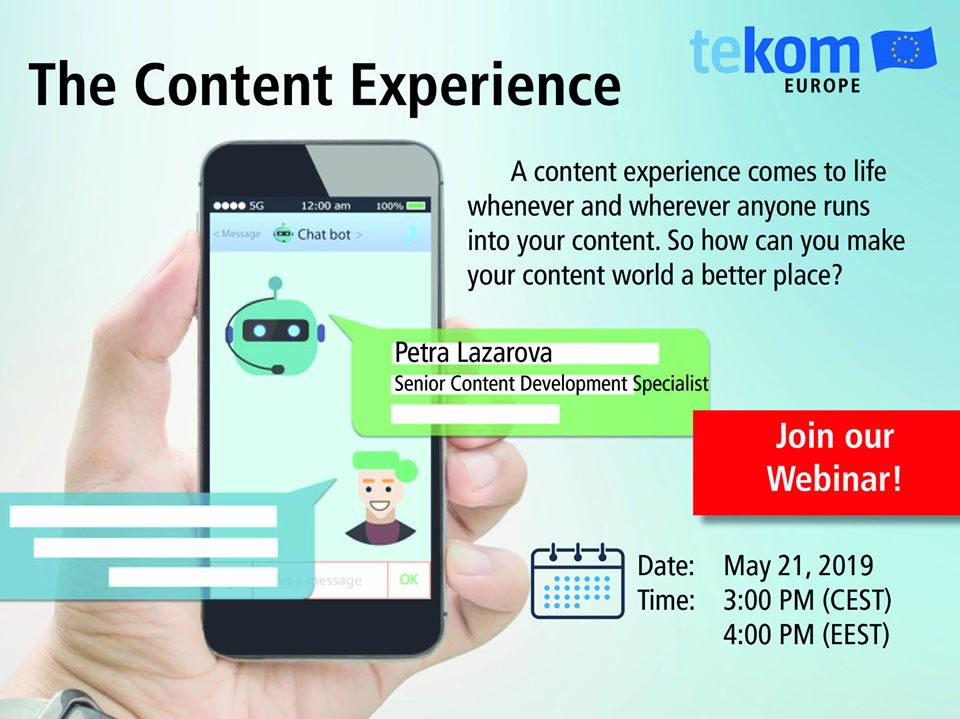 Webinar – The Content Experience