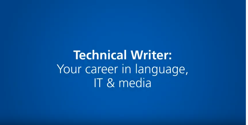 Technical writer: Your career in language, IT & media